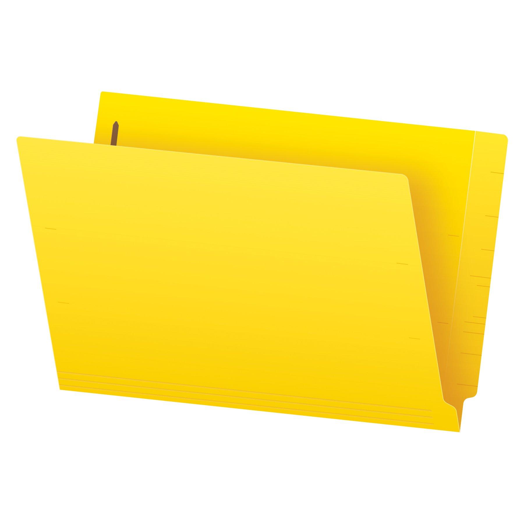 Pendaflex Color End-Tab Fastener Folders, Legal Size, Yellow, Straight Cut, 50/BX (48940)