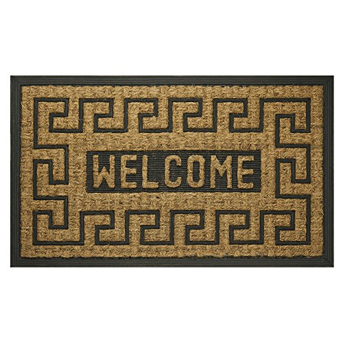 "Achim Home Furnishings COM1830WK6 Welcome Key Coco Door Mat, 18 by 30"" from Achim Home Furnishings"