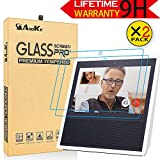 Amazon Echo Show Screen Protector,AnoKe Full Coverage Tempered Glass High Definition Screen Protector[ANTI-SCRATCH]Bubble-Free Excellent Screen Protector For Amazon Alexa Echo Show 2017-2Pack