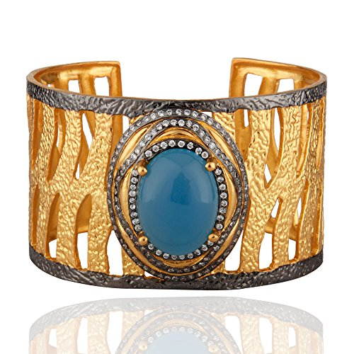 Gold Plated Gemstone Fashion Cuff Bracelets, Handmade Fashion Cuff Bracelets, Bridesmaid Cuff Bracelets by Dhruvansh Creations