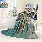 AmaPark Digital Printing Blanket Taj Mahal in Sunrise Light Agra India History Story Emperor Summer Quilt Comforter