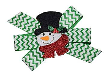 Wd2u Girls Cute Snowman Christmas Holiday Novelty Hair Bow Alligator Clip Hair Accessories Kids' Clothing, Shoes & Accs
