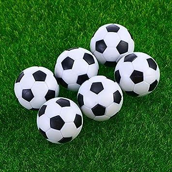 LQZ 8 Piezas Mini Mesa Futbolín Balones de Fútbol Pelota de ...