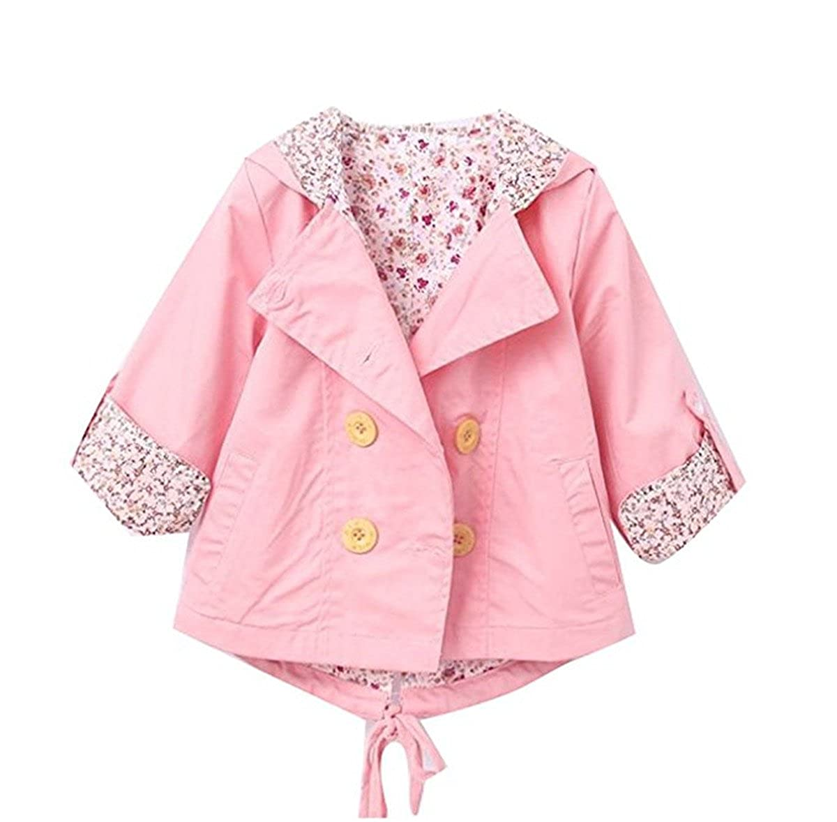 Baby Kid Little Girls Spring Autumn Fashion Double Breasted Trench Coat Jacket WINDEB031