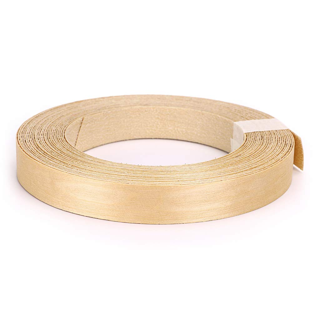 Skelang Birch 3/4'' X 50' Roll Wood Veneer Edge Banding Preglued Iron-on with Hot Melt Adhesive Edgebanding Flexible Wood Tape