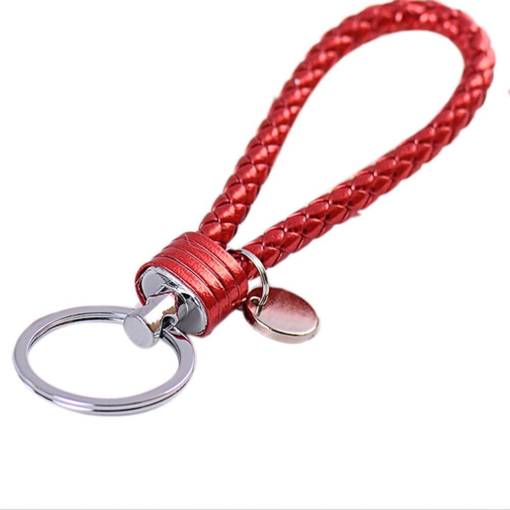 1Pcs Leather Car Key Chain Key Ring Keyfob Purse Keyring Keychain Accessories