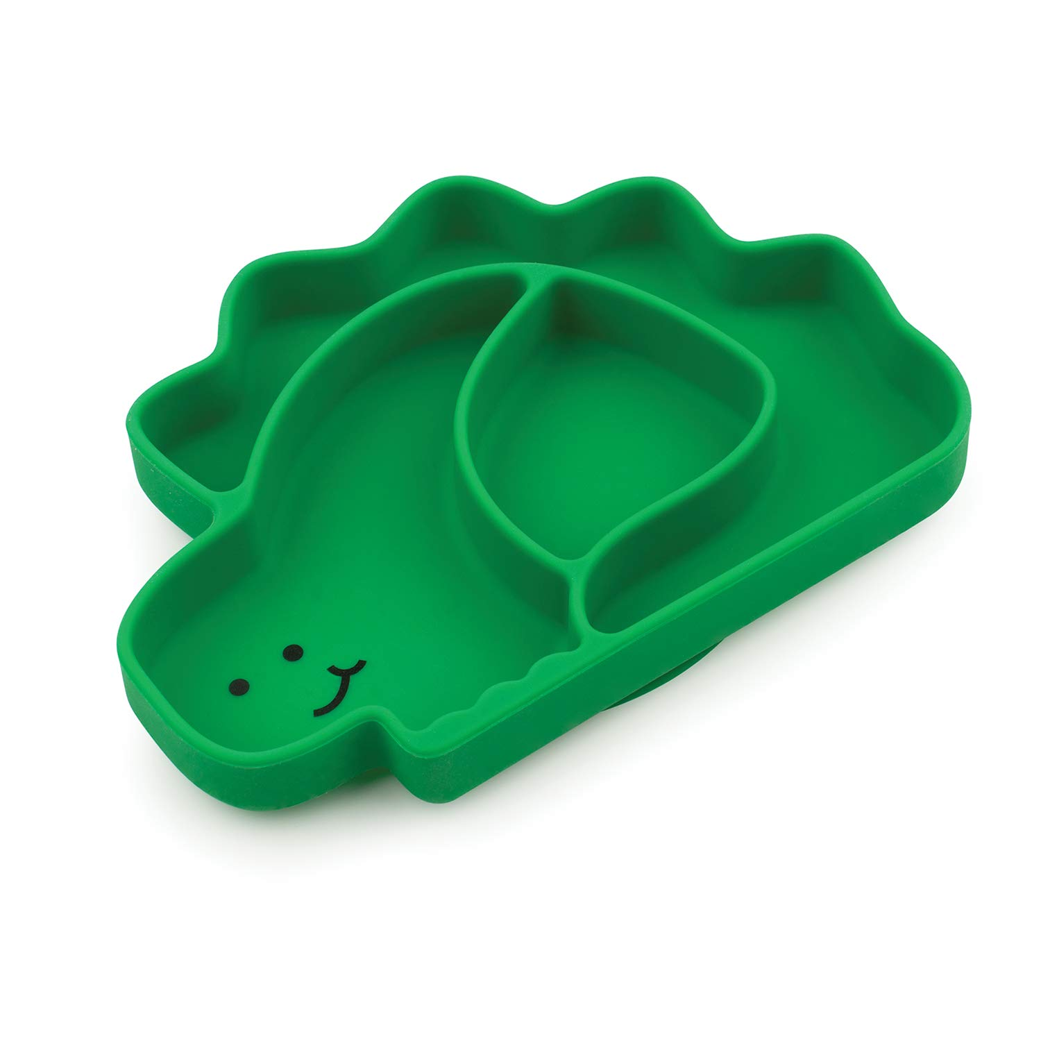 Bumkins Silicone Grip Dish, Suction Plate, Divided Plate, Baby Toddler Plate, BPA Free, Microwave Dishwasher Safe – Dinosaur
