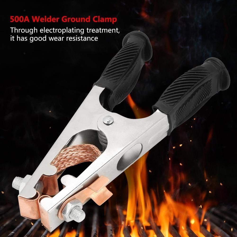 Broco Clip 500A Galvanizado pinza de masa de soldadura de cobre de la Tierra for el soldador manual tipo de Estados Unidos