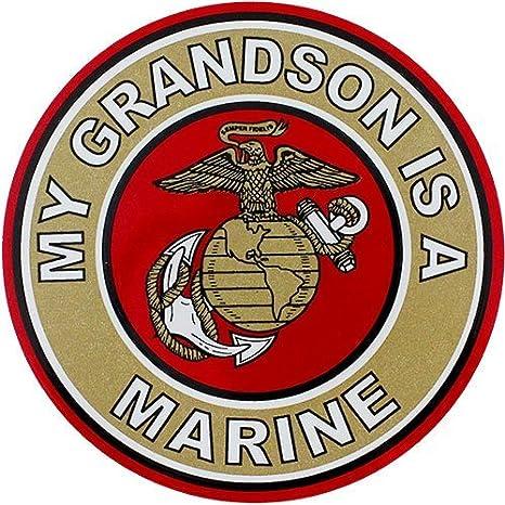 Details about  /# MY GRANDSON IS A US MARINE BUMPER STICKER MR GRADUATION GRAND PARENT MOTHER