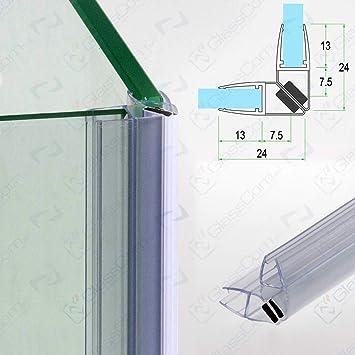 Junta para mampara de ducha transparente magnética de cristal 6 mm-vendida en pareja de 2,20mt: Amazon.es: Bricolaje y herramientas