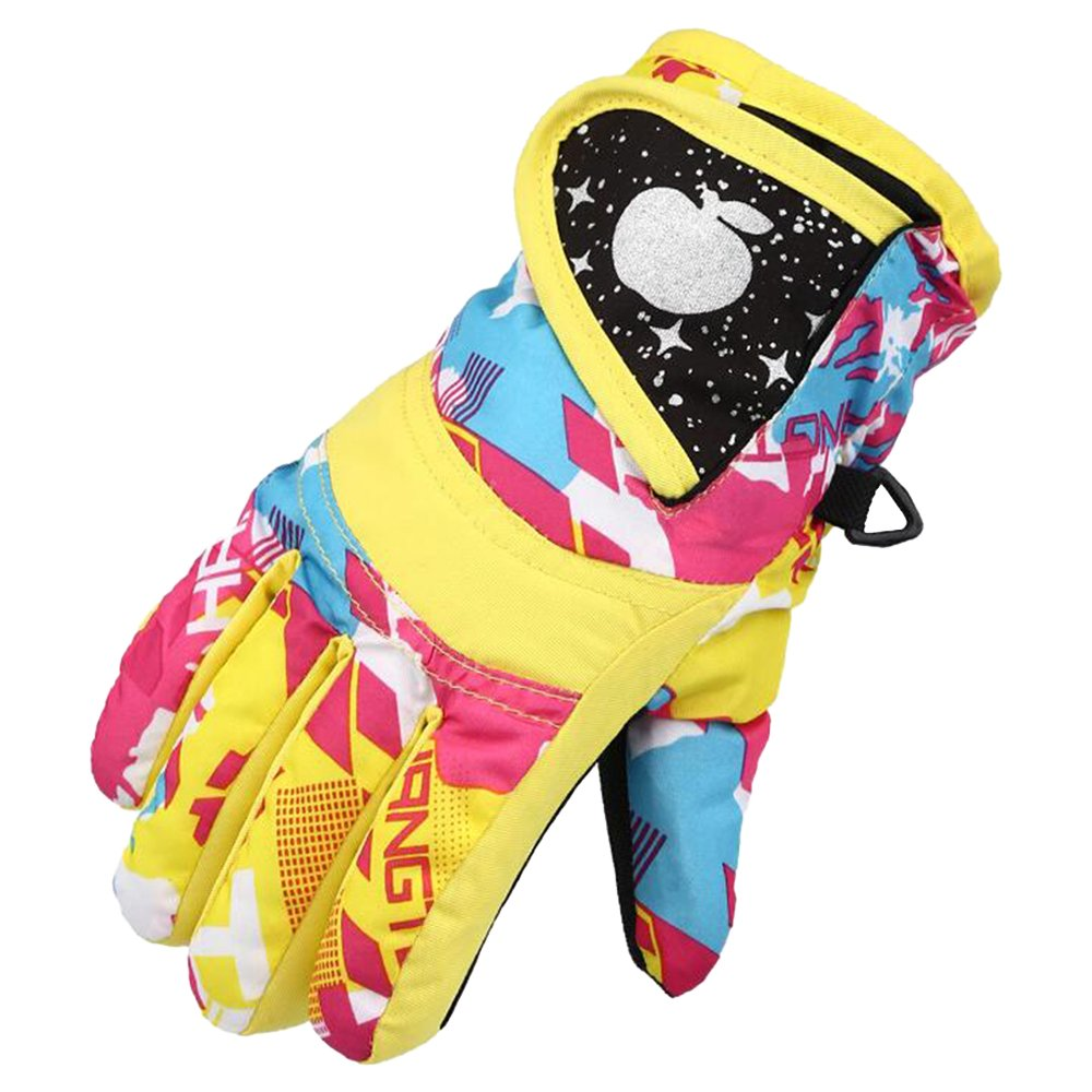 Eastlion Children Skiing Gloves Thickening Winter Cotton Cold Sports Waterproof Windproof Snow Mittens for Boys and Girls