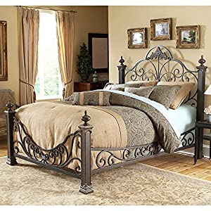 Fashion Bed Group Baroque Metal Poster Bed