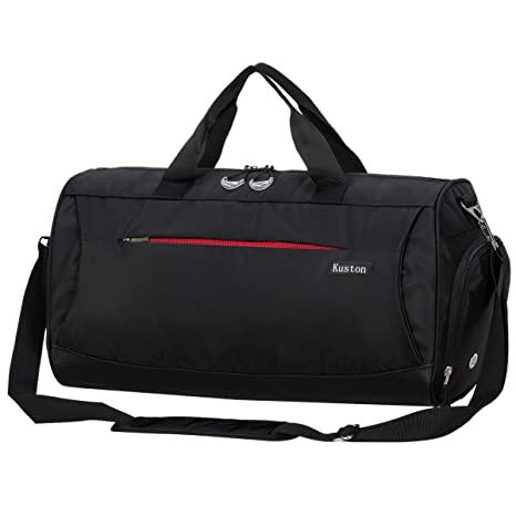 Amazon.com  Kuston Sports Gym Bag with Shoes Compartment Travel Duffel Bag  for Men and Women  Sports   Outdoors 3c051807a120d