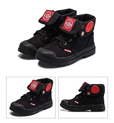 Toddler//Little Kid//Big Kid 0 0 MODEOK Boys Girls Waterproof Side Lace-up Ankle Boots