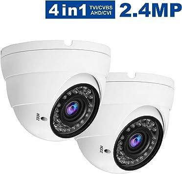 5 PKG 1080P Security Camera 2.8mm-12mm Varifocal Lens Dome HD TVI CVI AHD CVBS