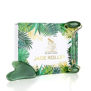 Amazon.com: Juego de rodillo de jade y gua sha de The Sumer ...