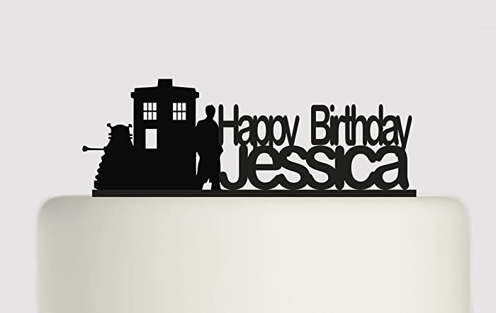 Birthday Cake topper Personalised Happy Birthday YOUR NAME Doctor