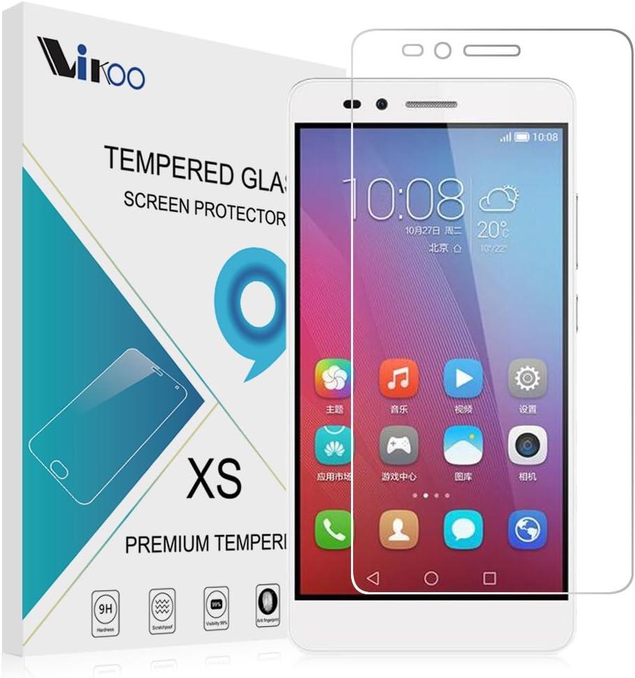 Huawei Honor 5X Cristal Templado,Vikoo 9H 2.5D 0.26m Ultra Delgado ...