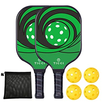 Amazon.com: TICCI - Raqueta de Pickleball (fibra de carbono ...