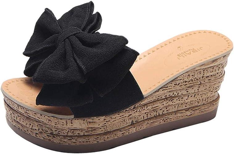 Womens Casual Beach Wedge Sandal Shoes