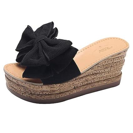 AG&T Zapatos de Punta Abierta de Las Mujeres, Nuevo tacón
