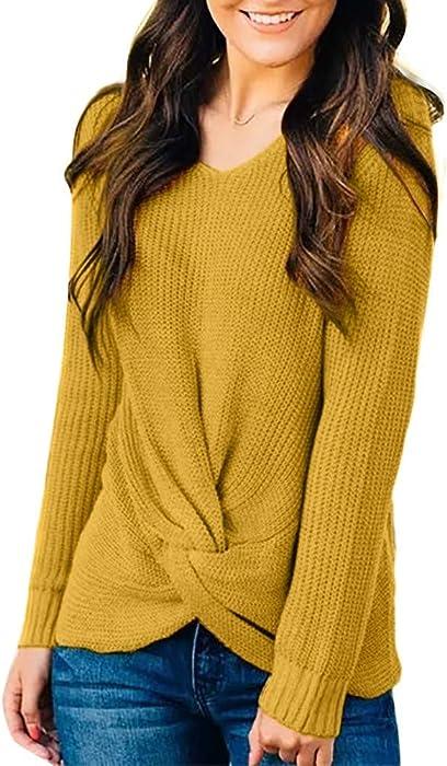 d749e2e1b2b761 Pullover Strickjacken für Damen Sweatshirts Oberteil Hemd Locker Oversized  Strickpullover Sport Freizeit Sweater Stricken Kleidung Langarmshirt O Neck  ...