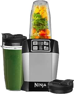 Ninja Auto-iQ Nutri Ninja Blender, Platinum   BL480 (Renewed)