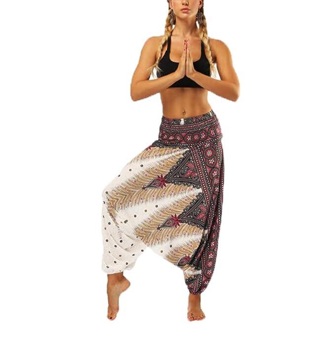 68933160037334 Pantaloni Larghi a Vita Alta con Vita Alta Elastica in Vita Alta Stile  Casual Harem Pants