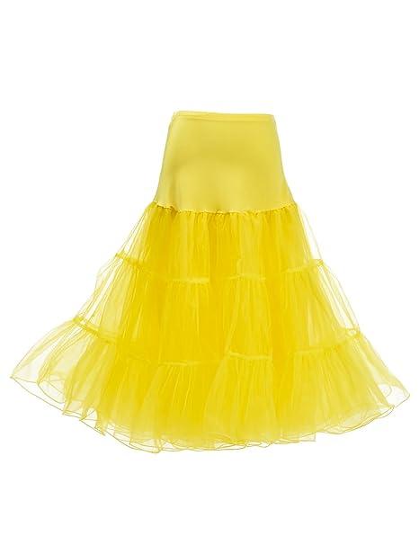 5163a1d53d6 Remedios 50s Vintage Rockabilly Petticoat Tutu Skirt 26 quot  Retro Fancy  Underskirt