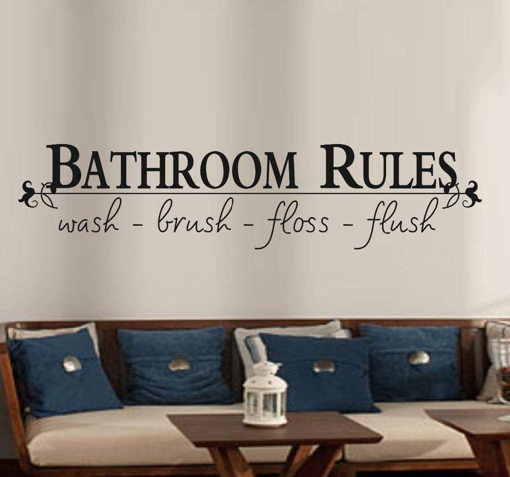 Wall Stickers, Wall Decals for Bathroom, Rules of Bathroom, Quotes