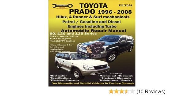 toyota prado 1996 2008 automobile repair manual ep by max ellery rh amazon com User Manual Repair Manuals