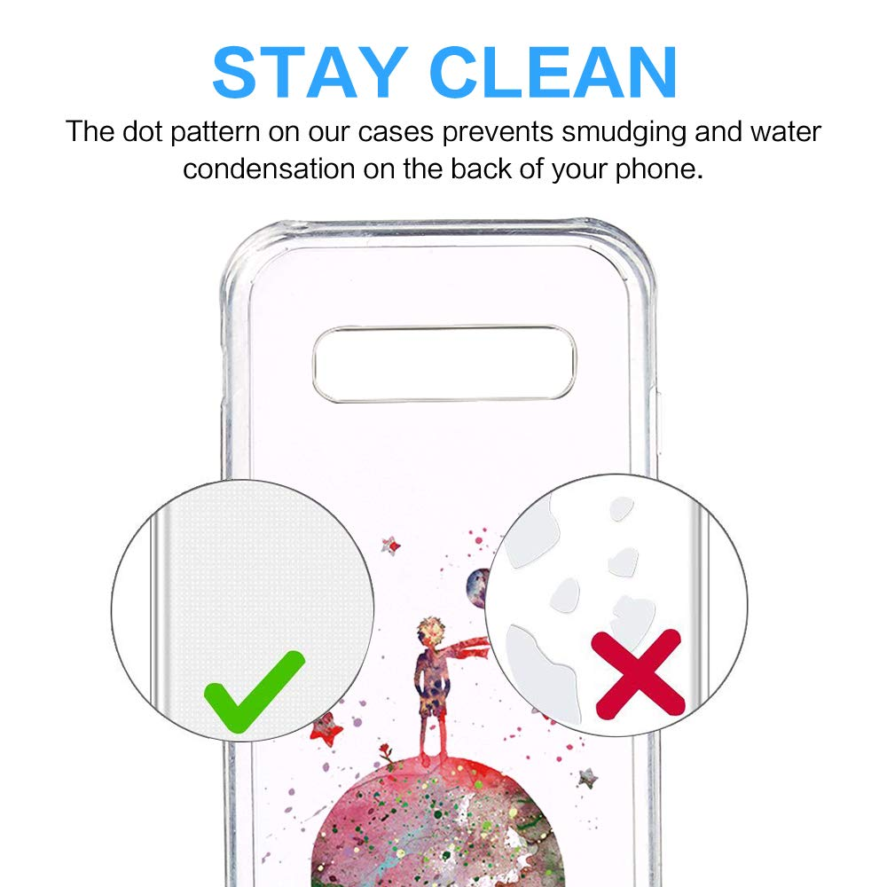 Amazon.com: Case Compatible with Galaxy S10 Plus Ultra Slim Protective Clear Soft TPU Clear Design Thin Transparent Silicone Protective Crystal for Galaxy ...