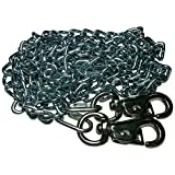 Beast-Master 2/0 Twist Link Tie-Out Chain with Cattle Snaps Heavy Duty Big Dogs (50 FT)