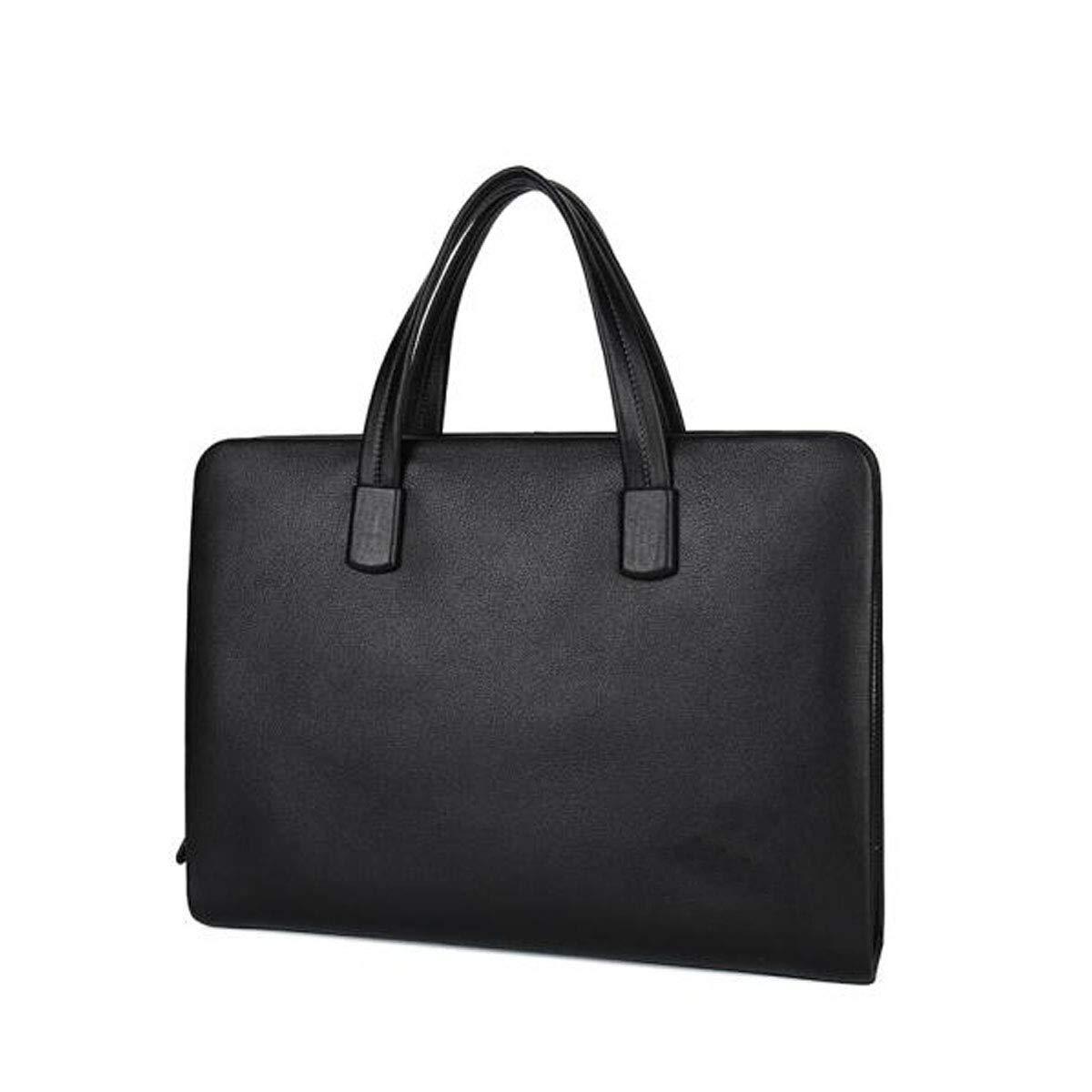 ブリーフケース、ビジネスメッセンジャーバッグ、多機能トップハンドバッグ、大容量コンピュータバッグ、ブラックサイズ:36.5 * 7 * 27.5cm B07RBKZSCS ブラック