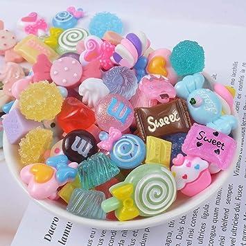 SAKUROO 20Pcs / Pack Resina Candy Slime Supplies Toy Mini DIY Slime Accesorios de Relleno para Limo Transparente Color Mezclado: Amazon.es: Juguetes y juegos
