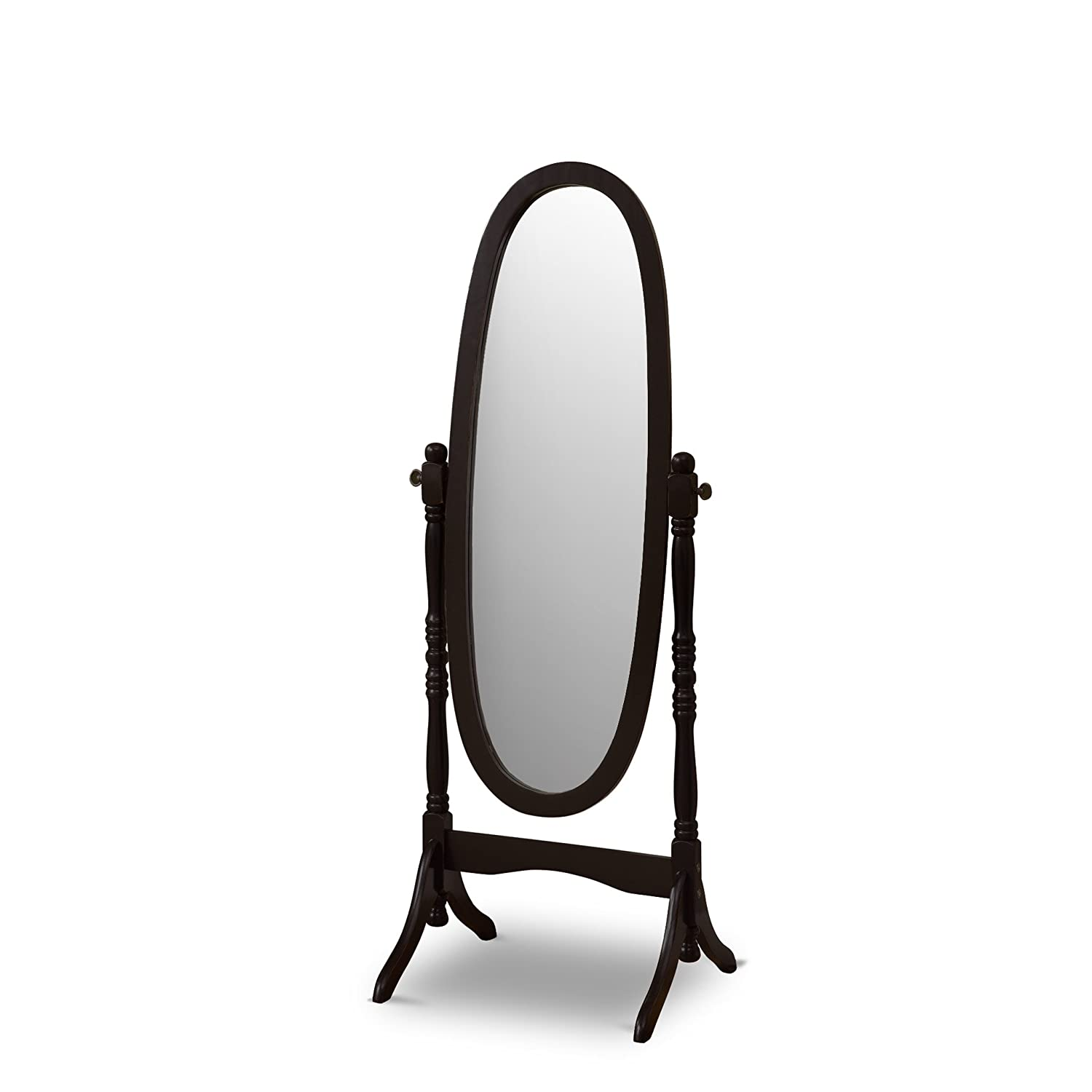 Poundex Victoria Floor Mirror Black POUNDEX ASSOCIATES CORP F4034BK