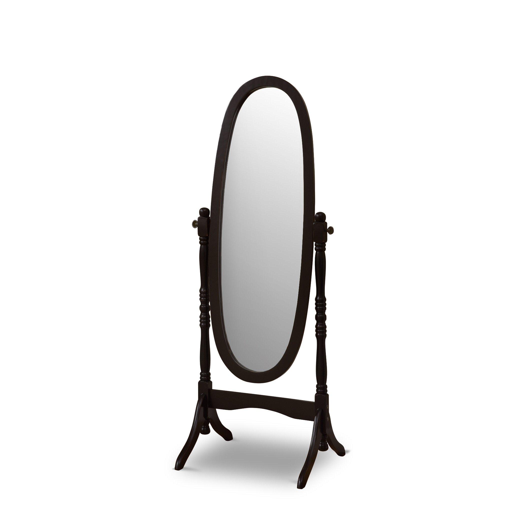 Poundex Victoria Floor Mirror Black