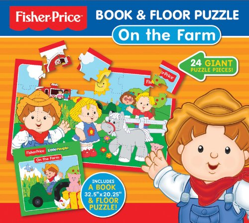Fisher-Price Book & Floor Puzzle: On the Farm: 24 giant puzzle pieces! (Fisher-Price Book & Floor Puzzles)
