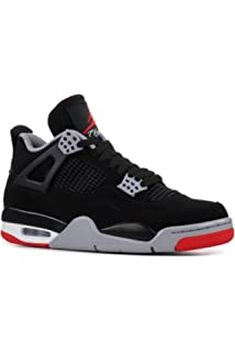 AIR JORDAN RETRO IV 4 BLACK BRED RED YOUTH SHIP NOW GS 408452-060 OG CEMENT BOYS