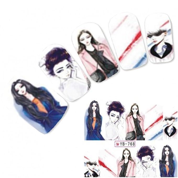 Just Fox - pegatinas tatuaje Nail Art Geisha manga Japón Anime ...