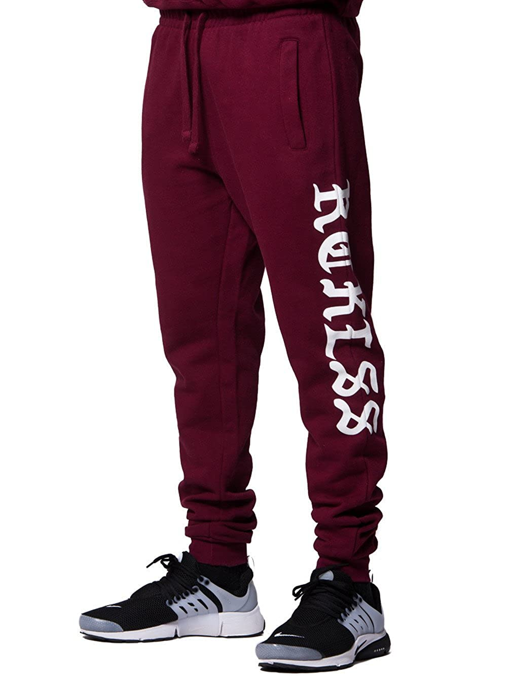 Young & Reckless - Anglian Sweatpants- Burgundy - - Mens - Bottoms - Sweatpants - Young and Reckless 11080059791