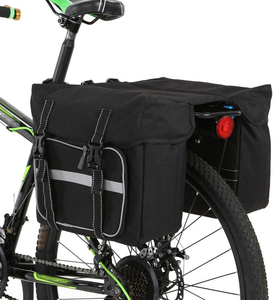 Bicycle Saddle Bag Polyester Large Capacity Tool Storage Reflective Stripe