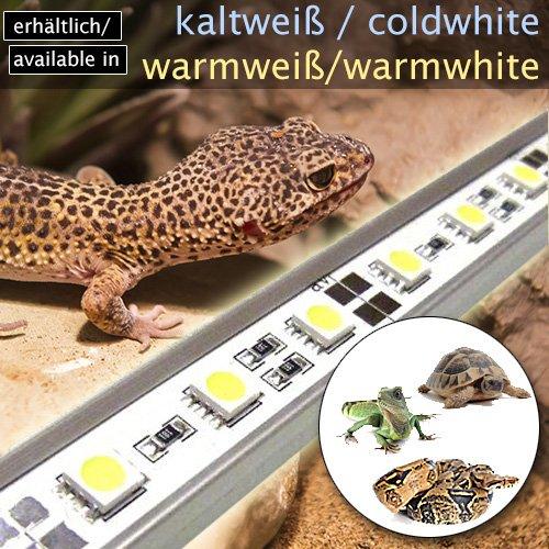 LED-Beleuchtung (warmweiß, 60cm) Simulator Steuerung Terrarium/Aquaterrarium/Vivarium Reptilien Amphibien Spinne Insekt TB4WW