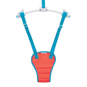 e83cec2bf Munchkin Bounce About Baby Door Bouncer - Red Blue  Amazon.co.uk  Baby