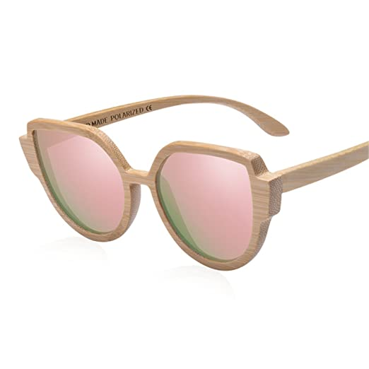 Amazon.com: Zcaosma Brand Design Sunglasses WomenS Bamboo ...