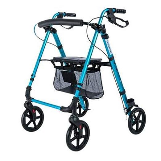 XSWZAQ Andador de Aluminio Ligero, Ajustable balanceo Walker con ...