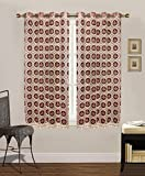 Cheap Simhomsen Vintage Lace Window Curtain Drapes Panel, Burgundy, 52 By 45 Inches, Set Of 2, Custom Order