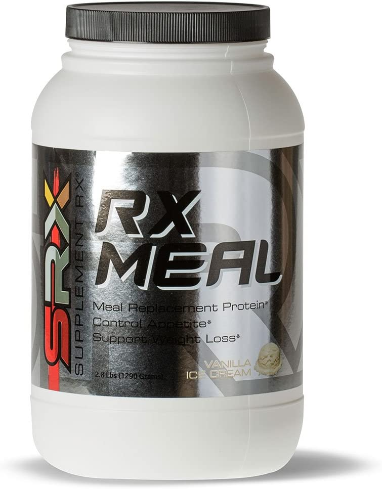 Supplement Rx SRX – Rx Meal Protein Vanilla Ice Cream, Lean Whey Protein Powder Complete Meal Replacement Shakes, Fiber, Ketogenic, 0 Net Carbs, Low Sugar, Low Carb, Protein Shake, 30 Servings