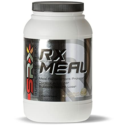 Supplement Rx – Rx Meal Protein Vanilla Ice Cream, Lean Whey Protein Powder Meal Replacement Shake, High Fiber, Keto-Diet Friendly, Net Zero Carbs, Low Sugar, Healthy Balanced Nutrition, 30 Servings