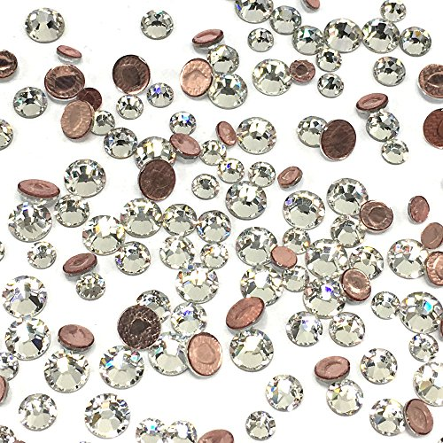 2038 / 2078 Swarovski Iron on HOTFIX Mixed sizes ss12 ss16 ss20 Flatbacks round Rhinestones embellishment (Fix Swarovski Flat Back Crystal)